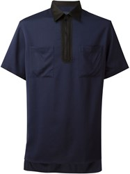Lanvin Oversized Zipped Shortsleeved Shirt Blue