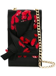 N 21 No21 Sequinned Abstract Bow Mini Bag Black