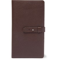 Brunello Cucinelli Full Grain Leather Travel Wallet Dark Brown