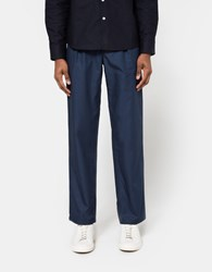 Norse Projects Sten Cotton Panama Navy