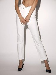 Alexander Wang Folded Cotton Denim Pants White