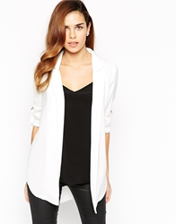 Lipsy Waterfall Jacket White