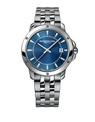 Raymond Weil Stainless Steel Bracelet Watch With Deep Blue Dial Silver