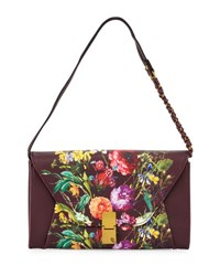 Elliott Lucca Cordoba Convertible Floral Faux Leather Clutch Bag Multi