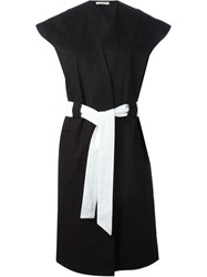 Each X Other Contrast Belted Dress Black