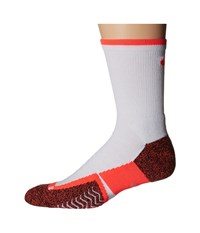 Nike Elite Tennis Crew White Bright Crimson Bright Crimson Crew Cut Socks Shoes