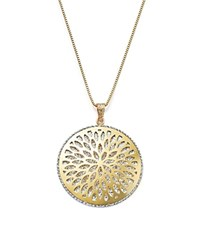 Bloomingdale's 14K White And Yellow Gold Flower Burst Pendant Necklace 24 100 Exclusive Gold White