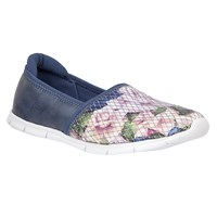 Lotus Valli Floral Print Loafers Blue