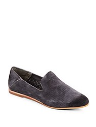 Dolce Vita Adele Vented Slip On Suede Loafers Anthracite