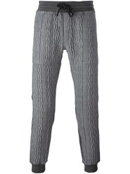Christian Pellizzari Cable Knit Track Pants Grey