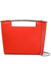 Delpozo Gret Leather Clutch Bright Orange