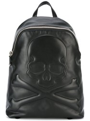 Philipp Plein Going Backpack Men Leather One Size Black