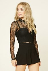 Forever 21 Contemporary Floral Lace Top