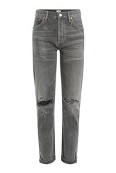 Citizens Of Humanity Distressed High Waisted Jeans Grey