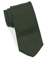 Brooks Brothers Herringbone Textured Tie Green