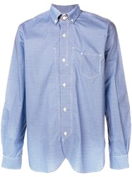 Junya Watanabe Man Checked Fitted Shirt Blue