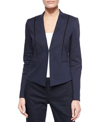 Elie Tahari Heidi Stretch Linen Jacket Navy
