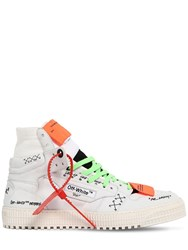 Off White Court High Top Leather Sneakers White
