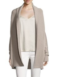 Vince Chunky Textured Cardigan Fossil
