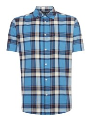 Army And Navy Chad Large Check Shirt Blue