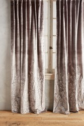 Anthropologie Floral Field Curtain Silver