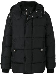 Versus Padded Coat Cotton Feather Down Leather Wool Black