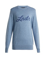Lndr Double Happiness Merino Wool Sweater Light Blue