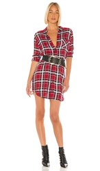 Rails Bianca Button Down Dress In Red. Crimson And Navy