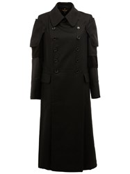 Comme Des Garcons Panelled Sleeve Coat Black