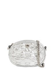 Moschino Quilted Laminated Nylon Camera Bag Silver