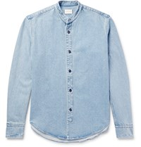 Simon Miller Monte Grandad Collar Denim Shirt Light Denim