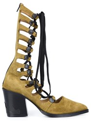 Toga Pulla Gladiator Boots Green