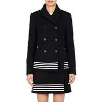 Double Breasted Swing Coat Black