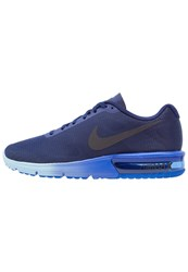 Nike Performance Air Max Sequent Neutral Running Shoes Loyal Blue Dark Obsidian Hyper Cobalt Bluecap