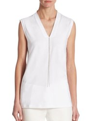 Brunello Cucinelli Sleeveless V Neck Top