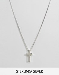 Seven London Sterling Silver Cross Necklace In Silver Silver