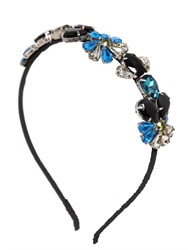 Marni Crystal Embellished Silk Crepe Headband