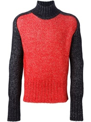 Ann Demeulemeester Colour Block Sweater Black