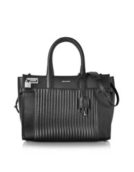 Zadig And Voltaire Black Leather Candide Medium Tote Bag