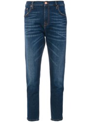Don't Cry High Waisted Boyfriend Jeans Blue