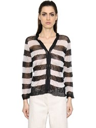 Max Mara 'S Silk And Metallic Fiber Knit Cardigan