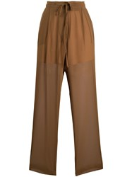 Alysi Elasticated Sheer Trousers 60
