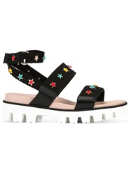 Red Valentino Star Charm Sandals Black