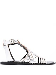 Rebecca Minkoff Strappy Flat Sandals Metallic