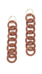 Elizabeth And James Isla Hoop Earrings Gold Brown