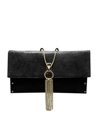 Sondra Roberts Nappa Leather Clutch Black