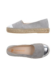 Macarena Footwear Espadrilles Light Grey