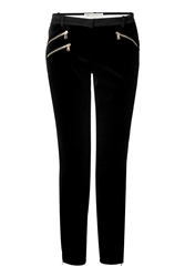 Emilio Pucci Cotton Silk Velvet Stretch Leggings