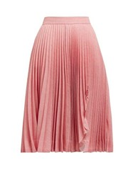 Calvin Klein 205W39nyc Jaws Cut Out Pleated Skirt Pink