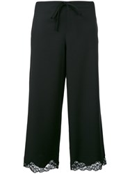 Alexander Wang Lace Trim Cropped Trousers Black